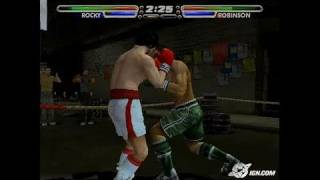 Rocky Legends PlayStation 2 Gameplay - Groggy knockdown