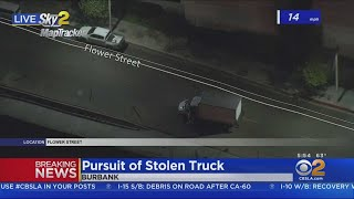 Driver Bails From Stolen Truck In Burbank After Police Chase