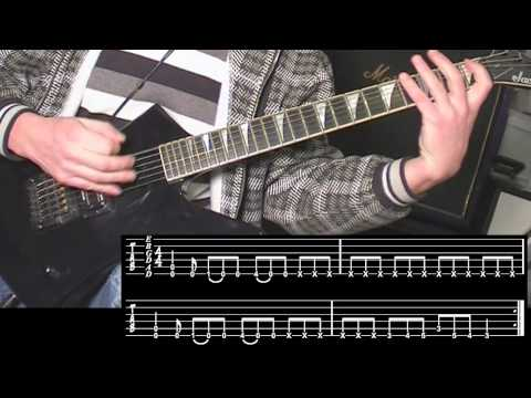artesguitars tutorial: the guitar riffs of CC Hell March [TAB]