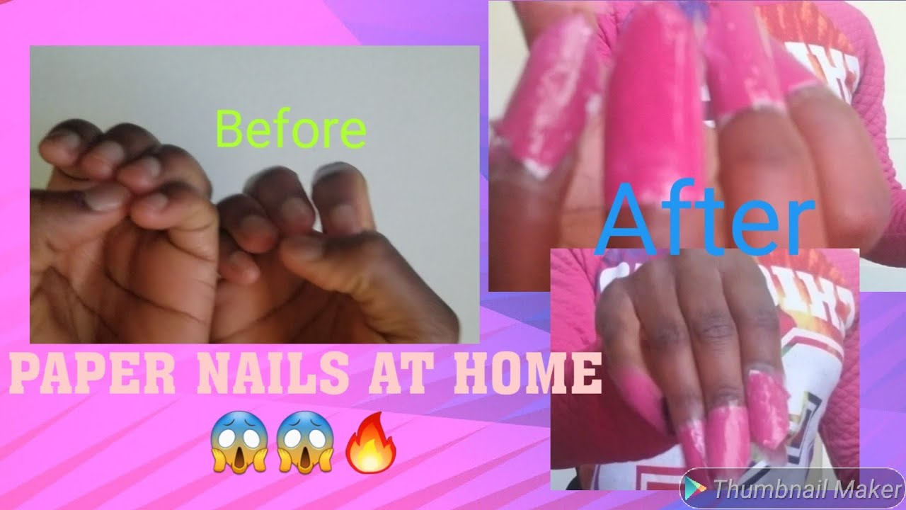 I Try To Make A Fake Nails From Paper At Home!!!   DIY ...