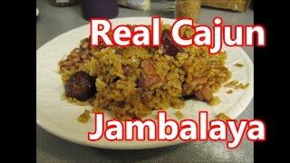 Pork butt and smoked Cajun sausage Jambalaya