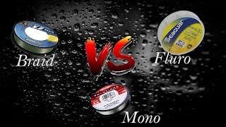 Bass Fishing 101: Line, Mono vs Fluro vs Braid