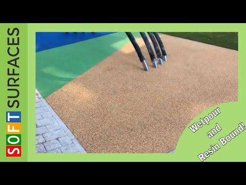Greenwich Millennium Village Wetpour and Resin Bound Gravel Design