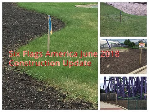 What's Going on in Gotham City? - Six Flags America 2019 Attraction Construction Update #1