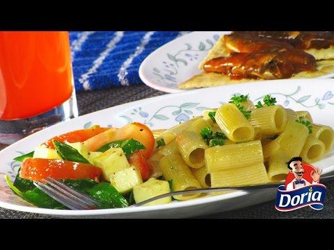 Ensalada de Rigatoni Huevo Doria con Tomates