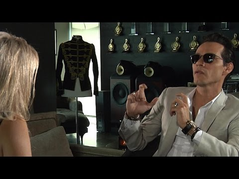Marc Anthony on his ritual before going on stage