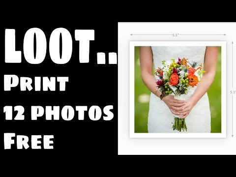 free, print your 12 photos online | big loot | free delivery