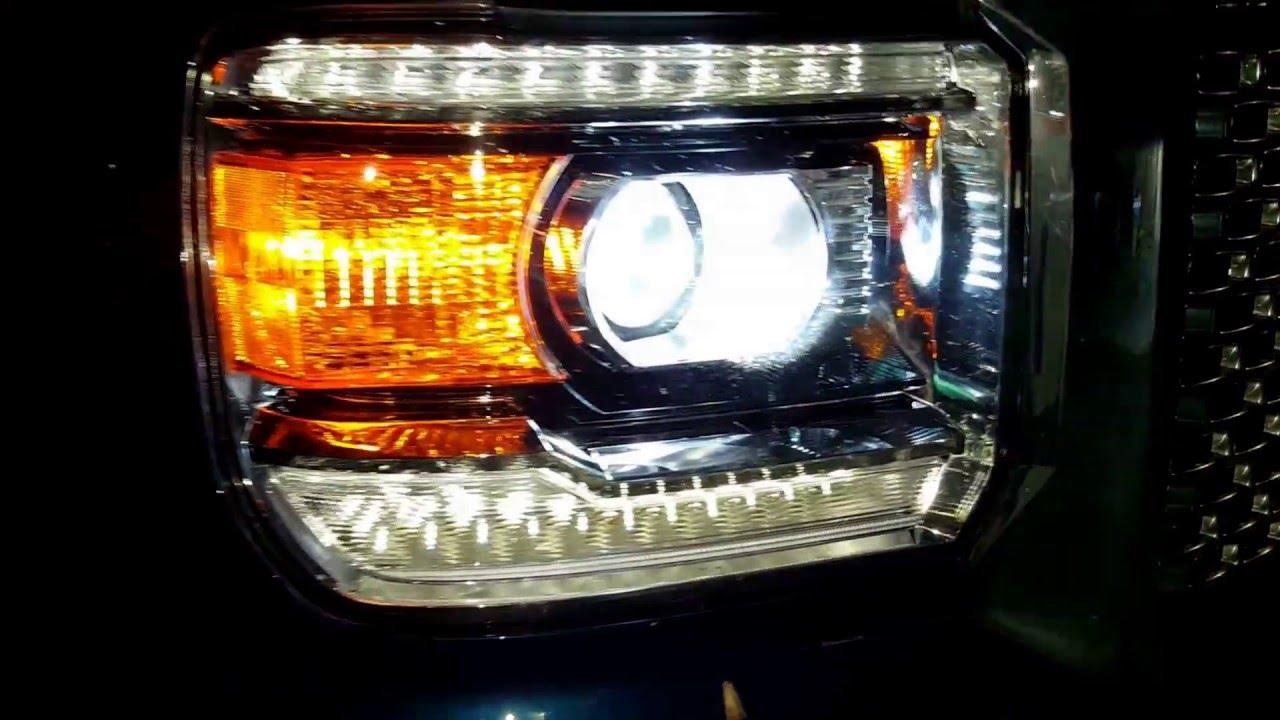 2015 Sierra Denali Xenon Hid 6 500k Lights K Amp N Youtube