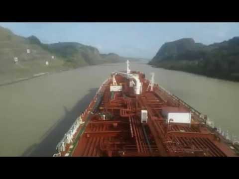 Teesta Spirit Time-lapse Captures Panama Canal Voyage