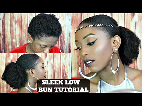 bomb-sleek-low-bun-on-short-4c-natural-hair-tutorial