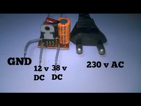 how to make transformerless power supply 230v AC to 12v  38 DC