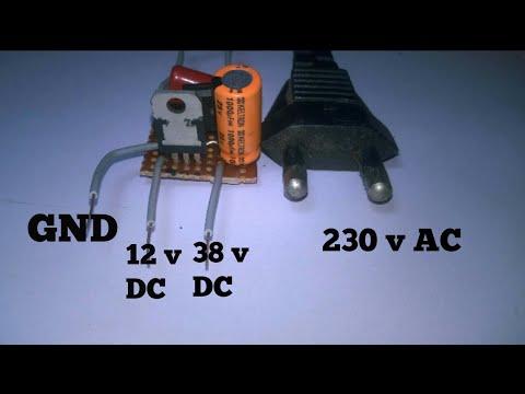 how to make transformerless power supply 230v ac to 12v \u0026 38 dc