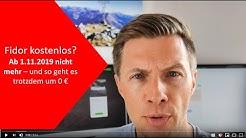 Fidor Konto wird kostenpflichtig! 5 € für Kontoführung, 1-2 € für Karte pro Monat - was tun?