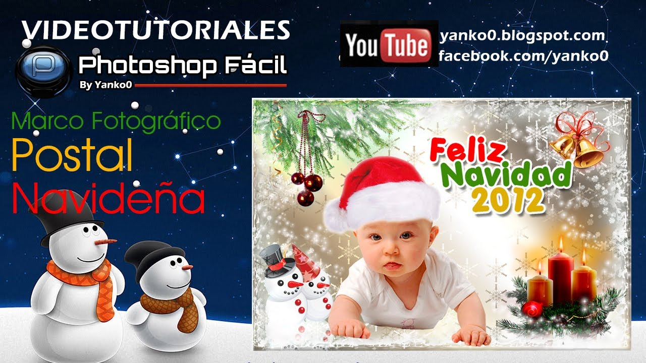 Postal Navideña Photoshop by Yanko0 - YouTube