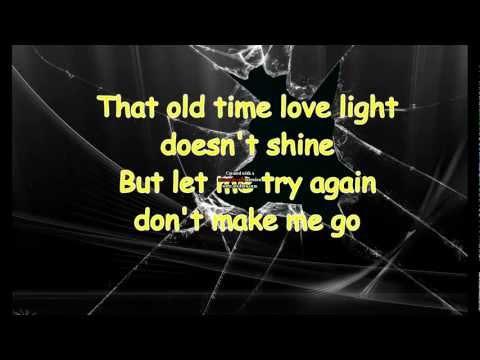 Johnny Cash - Don't Make Me Go (Lyrics)