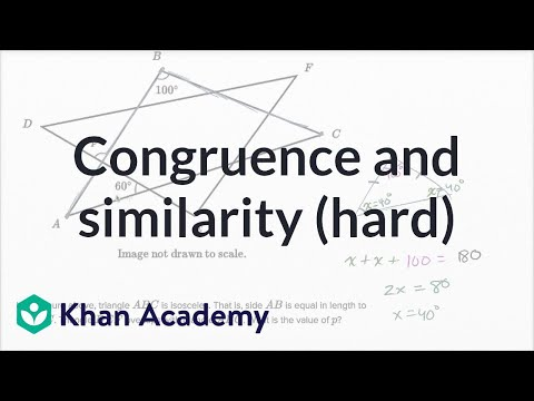 Congruence And Similarity — Harder Example | Math | New SAT | Khan Academy