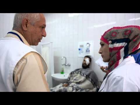 Läkaren Henrik Lambert på vår akutklinik i Jordanien
