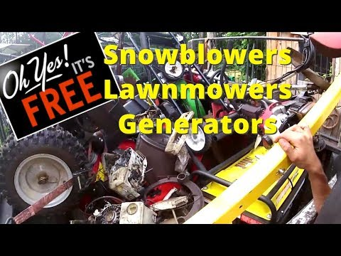 Scrapping for the dream! Lawnmowers, snowblowers, generator, chain saws. Selling on ebay full time!