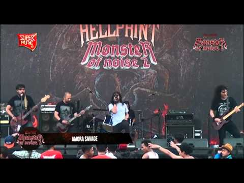 AMORA SAVAGE ( Part.2 ) Live at HELLPRINT - MONSTER OF NOISE 2