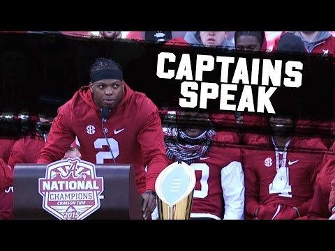 Watch the Alabama team captains address the crowd at the 2016 National Championship celebration