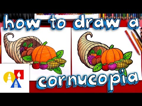 How To Draw A Cornucopia