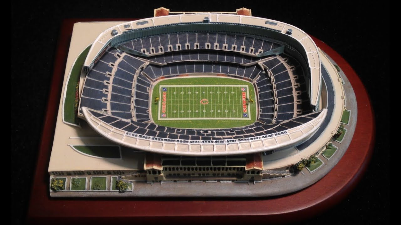 Chicago Bears Nfl Stadium Soldier Field Replica By The