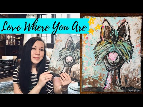 Artist Vlog | Don't Hold Yourself Back | Painting a Lama