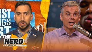 Nick Wright doesn't get why 49ers would want Brady, talks Giannis vs LeBron, plus Zion | THE HERD