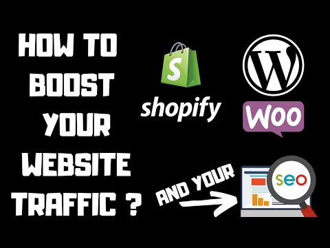 SEO How To Generate Traffic To Your Website, Woocommerce, Shopify, WordPress, for Dropshipping Upseo thumbnail