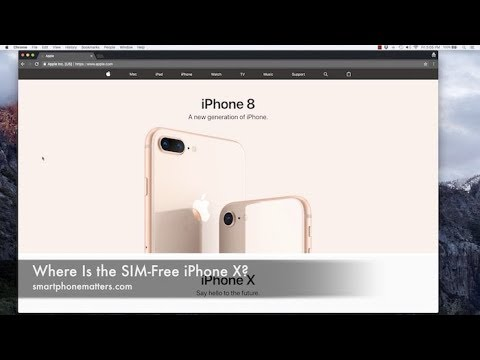 Where Is the SIM-Free iPhone X?
