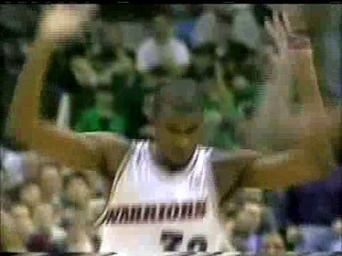 Joe Smith (Warriors) (15pts/8rebs/6blks) vs. Celtics (1997)