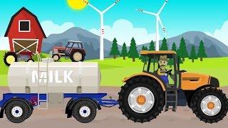 ☻ Farmer   Farm Works - Milk from Cows   Praca Rolnika - Dojenie Krów ☻