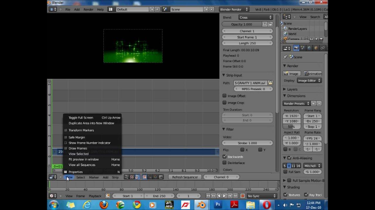 blender video editting
