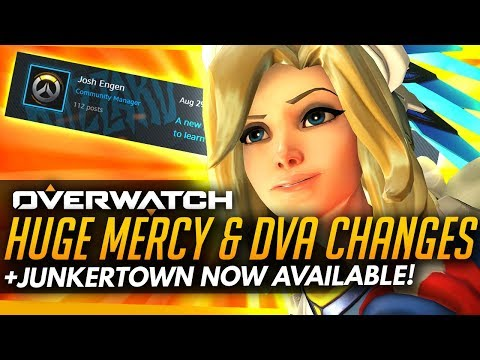 Overwatch | HUGE Mercy and Dva Changes + Junkertown LIVE!