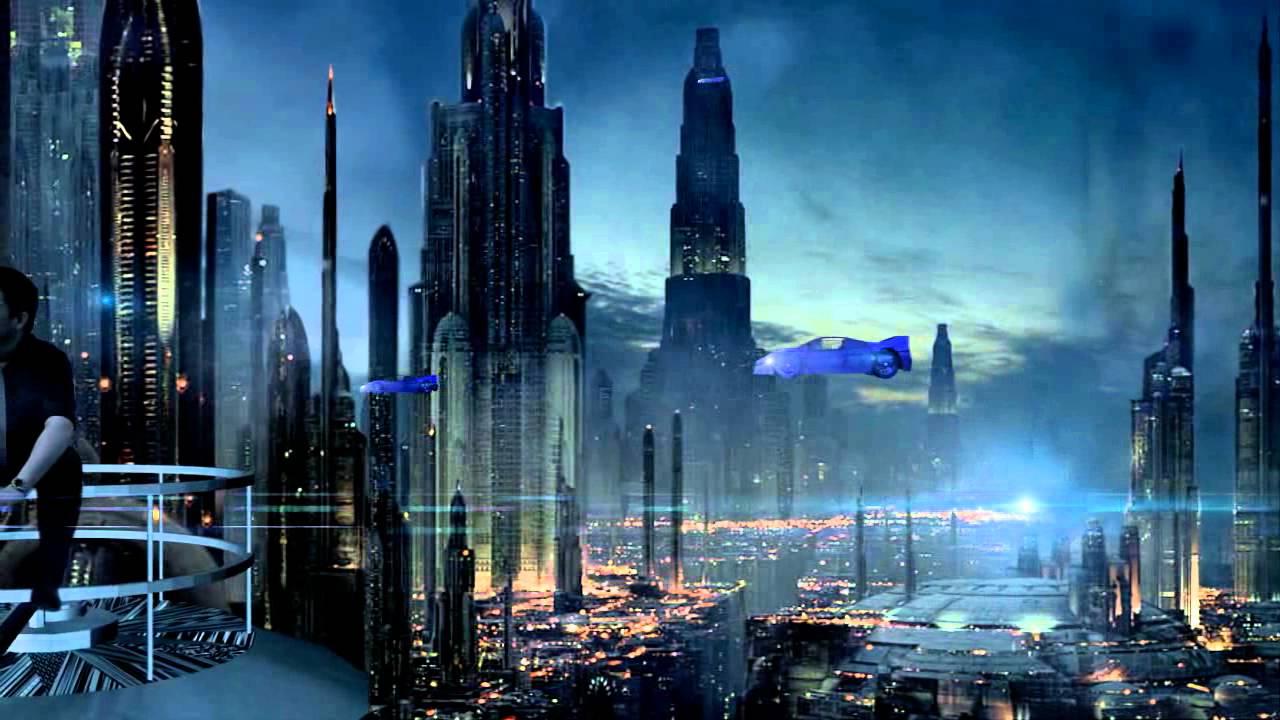 3d Galactic Wallpaper Futuristic City Youtube