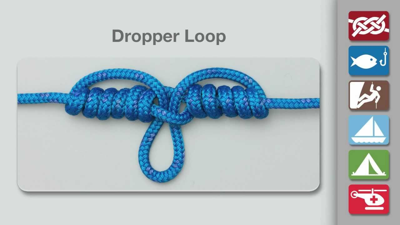 How To Tie A Dropper Loop Knot Fishing Knots Youtube