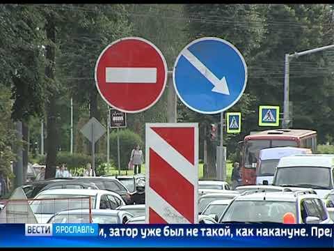 Заволжский район Ярославля вновь встал в пробке