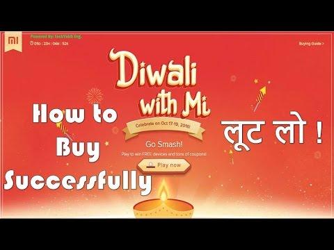 Xiaomi Mi Flash Sale Re 1 - Diwali Sale Oct 17-19 By Mi Trick To Buy Mi Phones Successfully in 1 Re