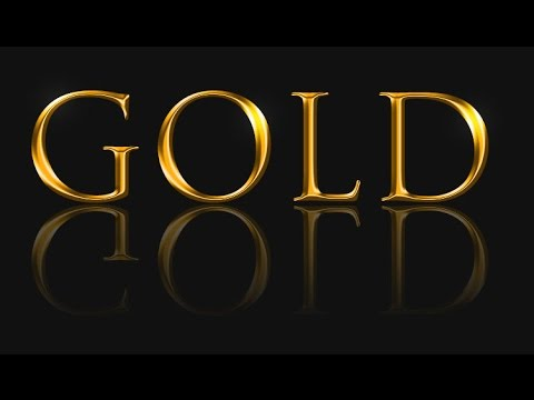 Create Gold Text in Adobe shop
