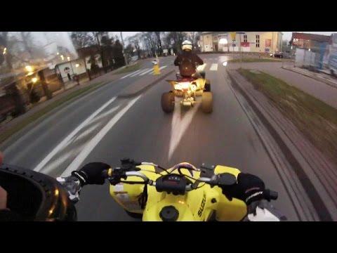 Atv city ride | Quad woods riding | Wieczorna jazda quadami po mieście i lesie | Suzuki LTZ 400 Hero