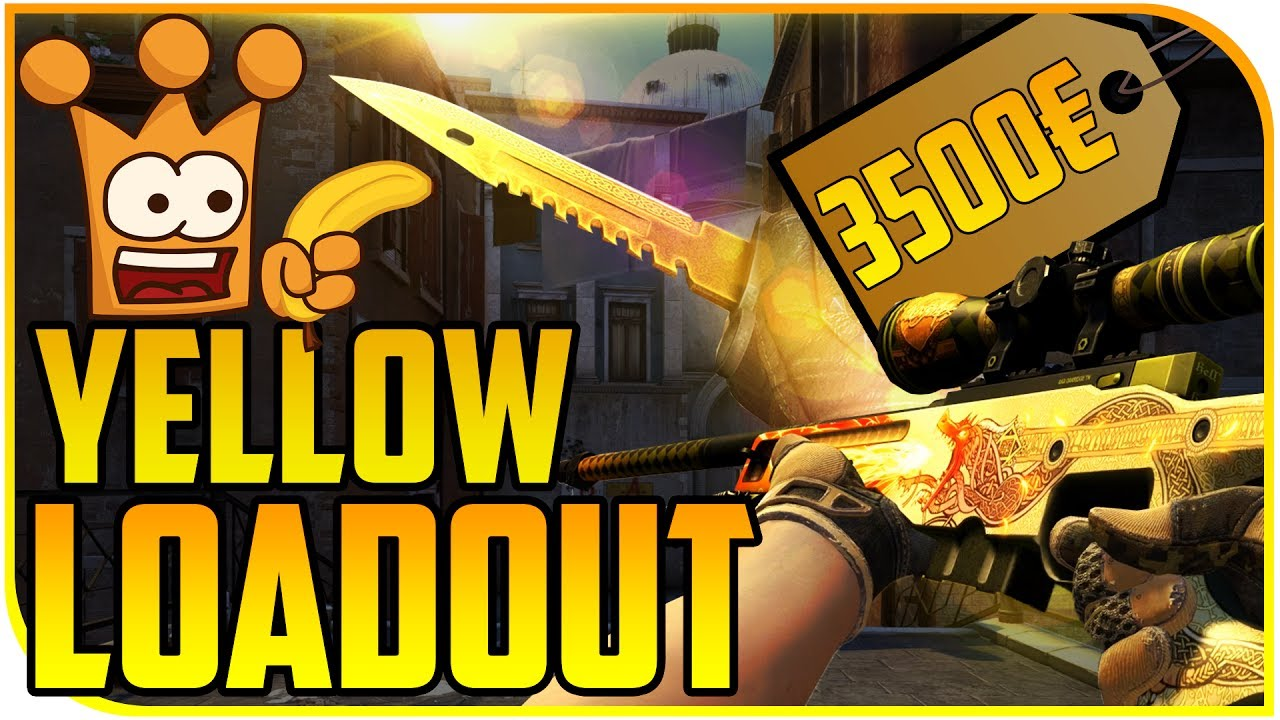 cs go yellow loadout komplett gelbes inventar f r 3500 gelbe terror playskins youtube. Black Bedroom Furniture Sets. Home Design Ideas