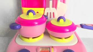 Soup Cooking Toy Kitchen Stovetop Velcro Vegetables Utensils Pots Pans Learn Cooking Colors Shapes