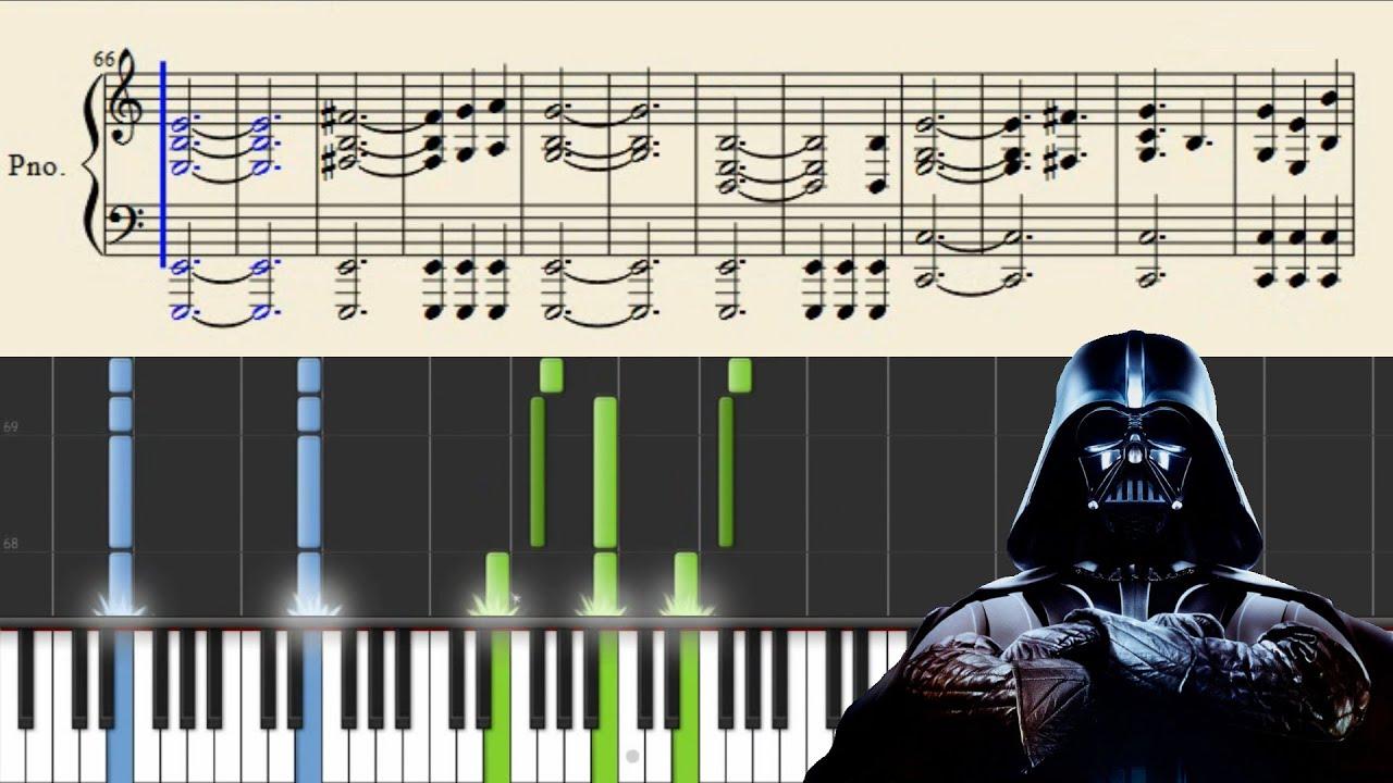 star wars piano sheet music free