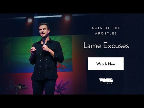 Rich Wilkerson, Jr — Acts of the Apostles: Lame Excuses