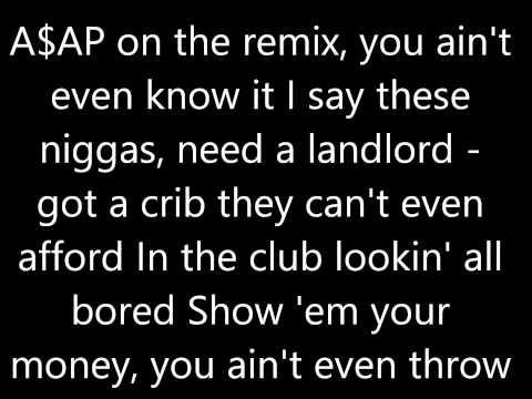 "Rocko - ""U.O.E.N.O."" Ft. Future, Rick Ross, A$AP Rocky, Wiz Khalifa & 2 Chainz (Remix) Lyrics"
