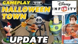 Disney Infinity Jack Skellington / Halloween Town Toy Box Challenge Gameplay + Wreck It Ralph Update