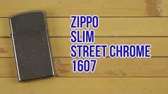 Распаковка Zippo Slim Street Chrome 1607