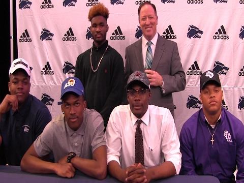 National Signing Day 2017 at Ranchview High School in Irving Texas