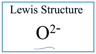 Скачать How To Draw The Lewis Dot Structure For O 2 Oxide Ion