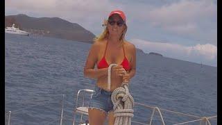 #sewingontheboat #diving Saving the Bimini.Jobs on the boat! Sailing Ocean Fox Ep 59